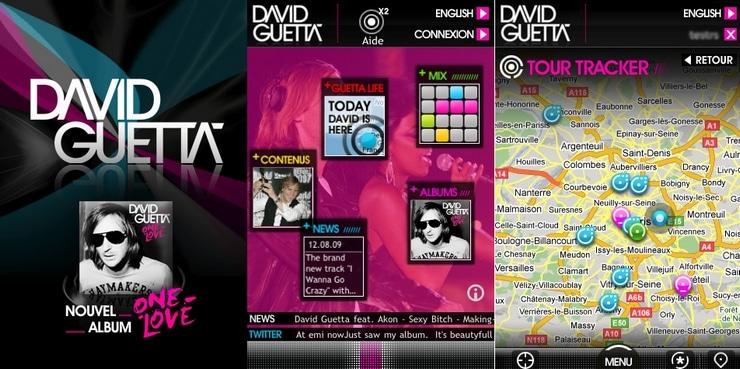 david guetta iphone one love application