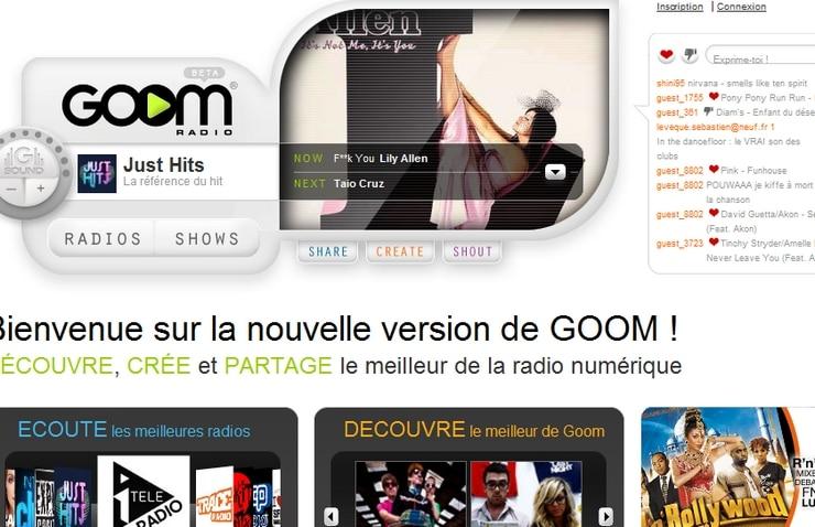 goomradio numérique nouveau site