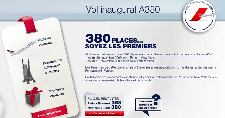 vol inaugural air france a380