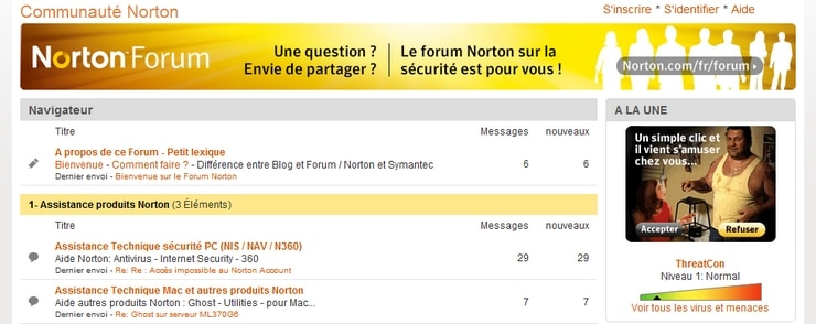 forum norton france communauté