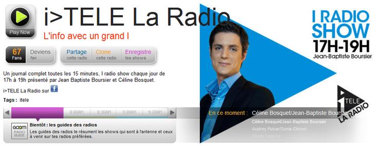itélé la radio goomradio