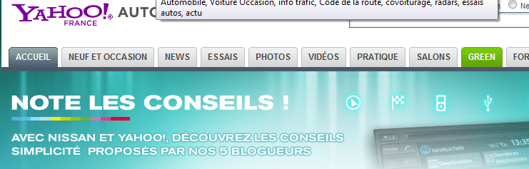 note conseils nissan yahoo blog
