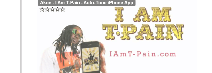 Smull T pain auto tune sound iphone