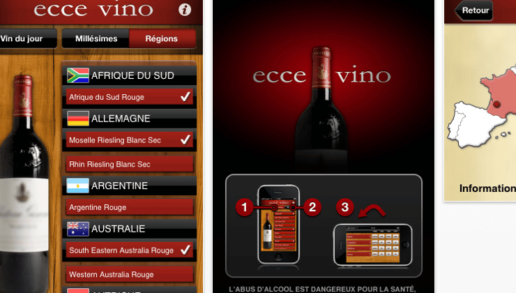 application iphone ecce vino vin guide millesimes