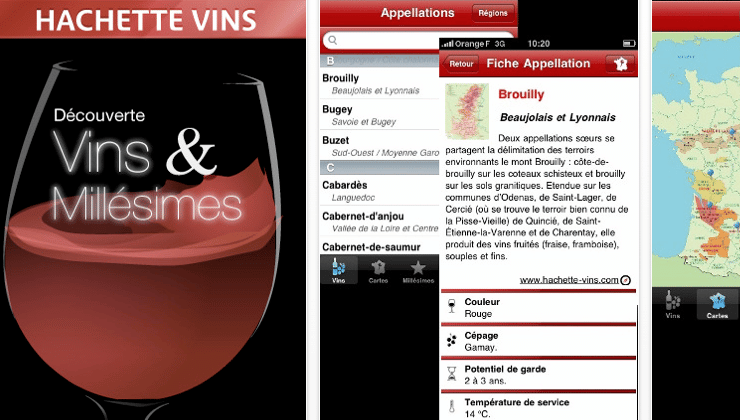 application iphone hachette vins millesime