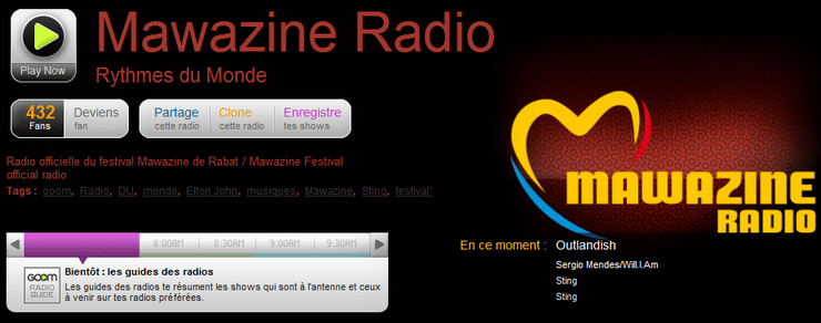 mawazine radio officielle goomradio