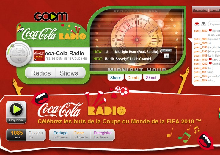 coca cola radio goomradio coupe du monde de foot