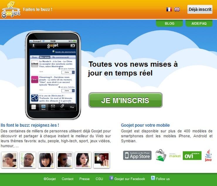 goojet homepage 2010