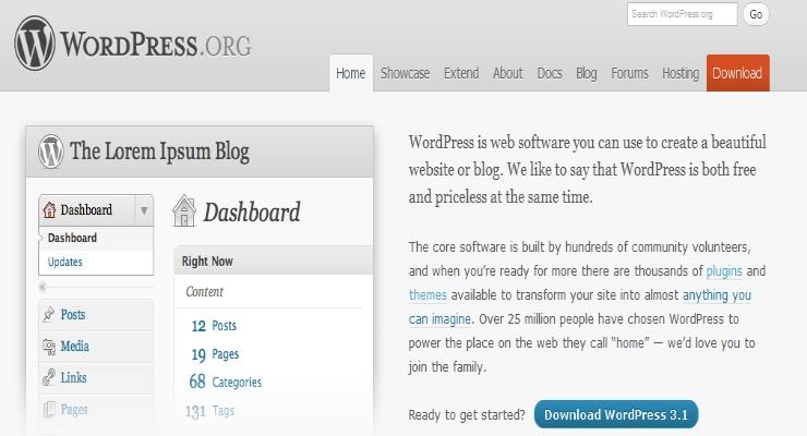 wordpress mise à jour 3.1.1 correctifs