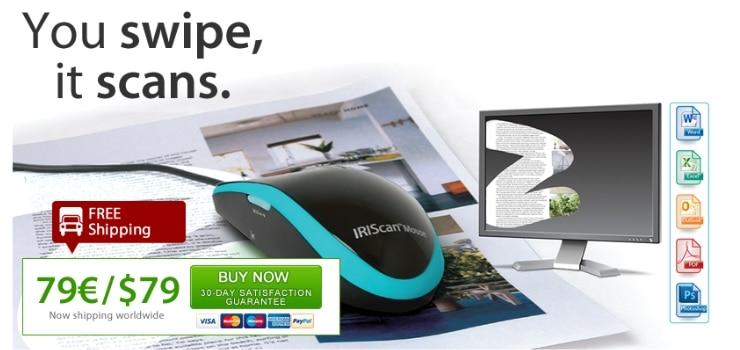 IRIScan Mouse souris scanner pour tout numériser