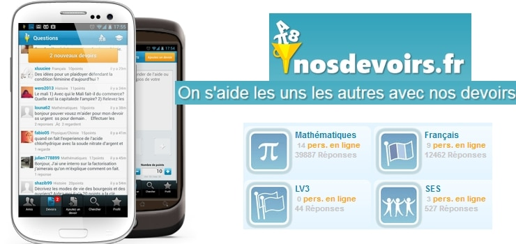 application android nos devoirs