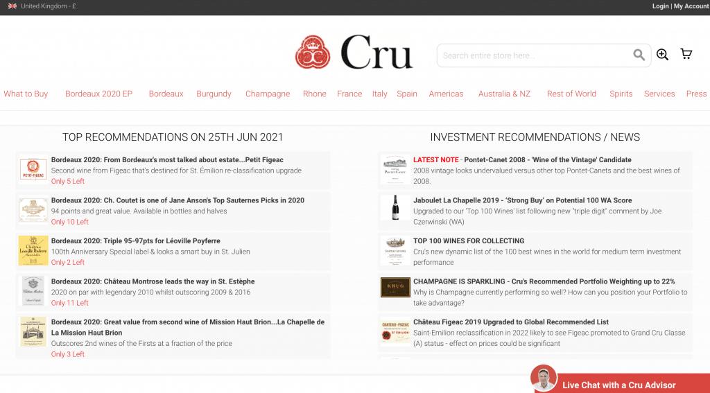 cru world wine investissement vin