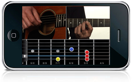 application iphone jouer guitare