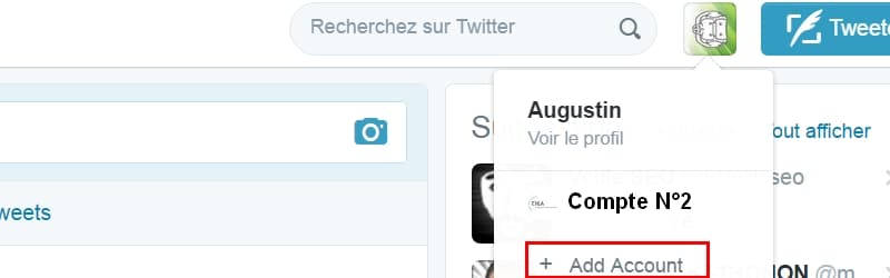 gestion multi compte Twitter
