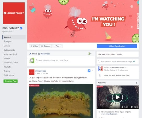 nouvelles pages fans facebook