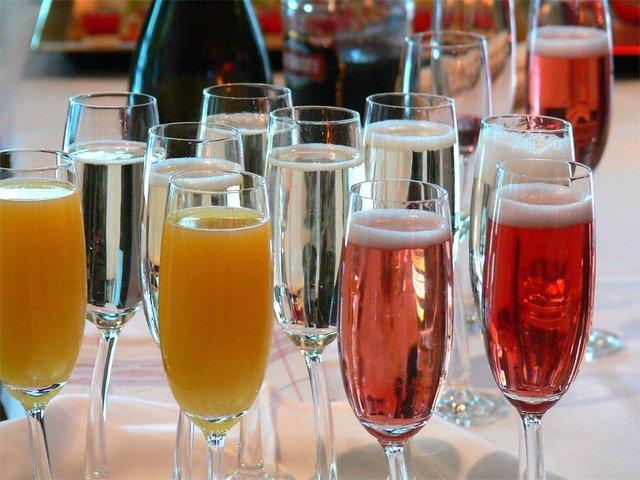 cocktail champagne orange grenadine
