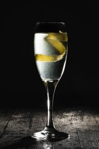 cocktail gin et champagne