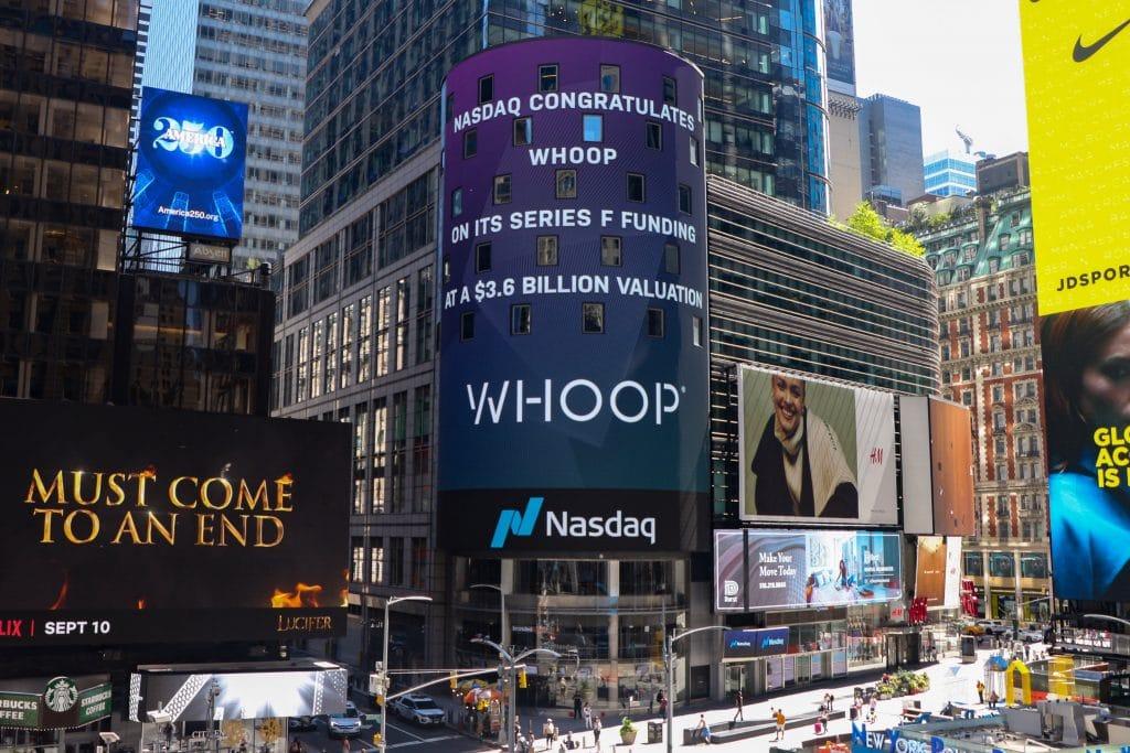 whoop introduction bourse nasdaq